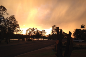 Red Sky in Gatton Queensland